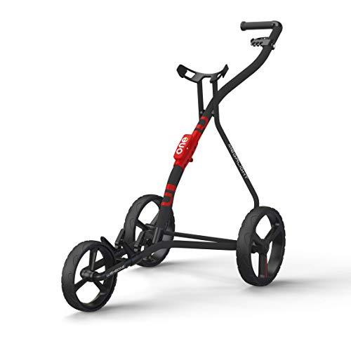 Golf Trolley  3 Wheels PushPull Golf Cart Wishbone ONE Red