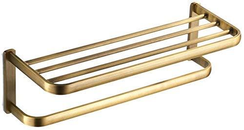 MKXF Toallero montado en la Pared, Accesorios de baño Toalla de baño Colgante Toallero Retro 58cm