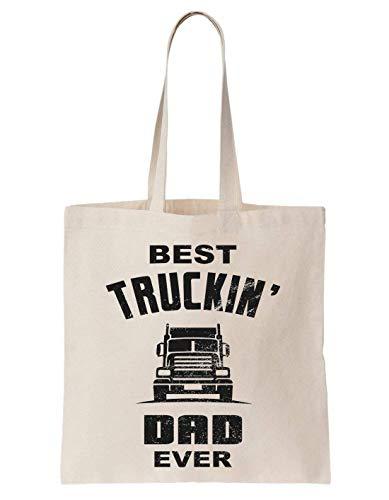 Best Truckin Dad ever Father Driver Truck Schultertasche Tote Bag