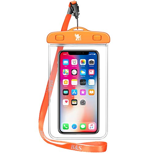 H&S 2 x Waterproof Phone Case Watertight Underwater Phone Pouch Dry Bag for iPhone 6 6s 7 8 Plus X Xs Xr Samsung s6 s7 Edge s8 s9 Mobile Phone Smartphone