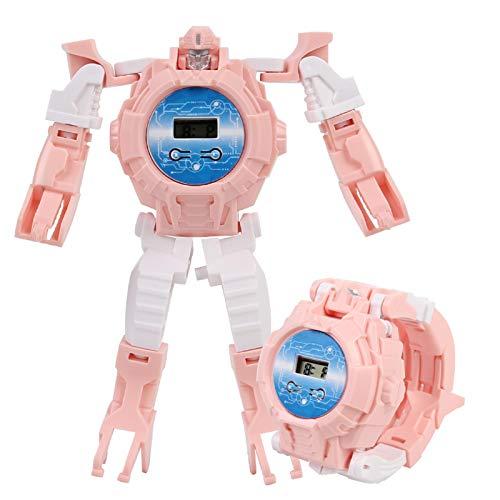 Watch Transformers Toys, 2 in 1 Elektronische Verformung Armbanduhr Kinder Cartoon Kreatives Handbuch...