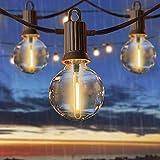 15 Metros Guirnaldas Luminosas de Exterior, ZOTOYI G40 Cadena de Luces Exterior Impermeable IP65 con 25+2 LED Bombillas, Guirnaldas Luces Exterior LED para Jardín Terraza Patio Navidad
