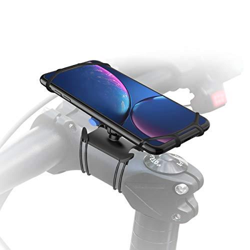 Gelink Soporte Movil Bicicleta, Universal Anti Vibración Soporte Móvil Moto, Giratorio 360 Grados, para iPhone X, XS | XS Max, XR, Samsung S9 y Otros Dispositivos 4.7' a 6.5' (Negro)