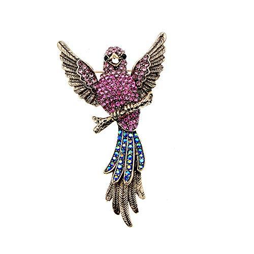 GLKHM Animales Broche Broches De Aves Broche De Loro para Mujer Accesorios Vintage