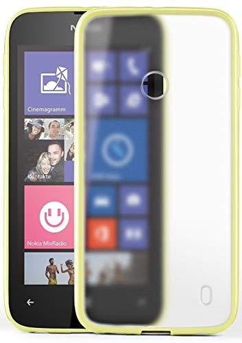 MoEx Cover Opaca [Trasparente] Compatibile con Nokia Lumia 520 | Bordi rialzati, Beige
