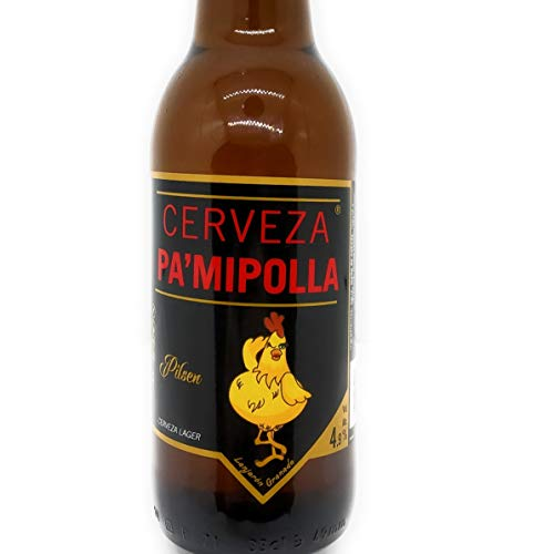 Cerveza Pilsen PAMIPOLLA Botella 0,33l ideal para fiestas, bromas, despedidas by Kaptalanshop