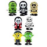 STOBOK 7 Piezas Juguetes de Cuerda de Halloween Juguetes Mecánicos Truco O Trato Bolsa de Regalo Relleno de Piñata Suministros de Favor de Fiesta de Halloween