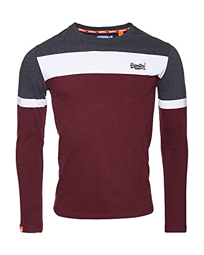 Superdry OL Engineered L/s Top T-Shirt À Manches Longues, Rouge (Buck Burgundy Marl R6P), 3XL Homme