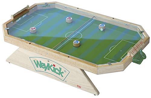 Weykick Stadion Fix 7500A / Magnetfußball mit Plexiglas-Abdeckung / für 2-4 SpielerInnen, 4 Fußballspieler mit Führungsmagneten + 1 Ball