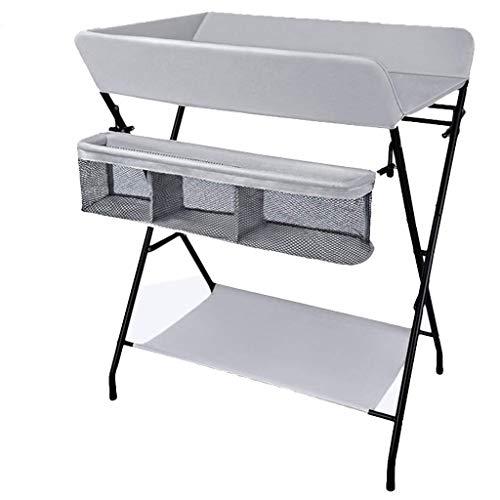 N/Z Table de Table d'équipement de Vie Station de Couches Pliante pour bébé Portable avec Rangement pour Chambre d'enfant pour Les Voyages infantiles (Couleur: Gris Clair)