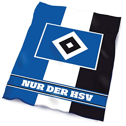 Hamburger SV HSV Fleecedecke Blockstreife150x200 - -