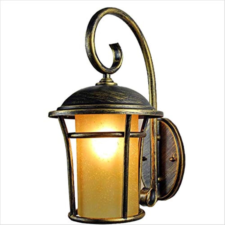 XRFHZT Retro Wasserdichte Gartenwand Lampe im Auenbereich Innenhof Beleuchtung Korridor Outdoor Lighting,Bronze