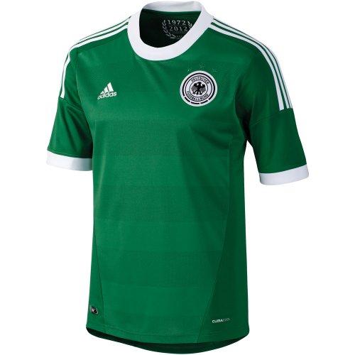 adidas - Camiseta de fútbol Sala Infantil, tamaño 176 UK, Color Verde/Blanco