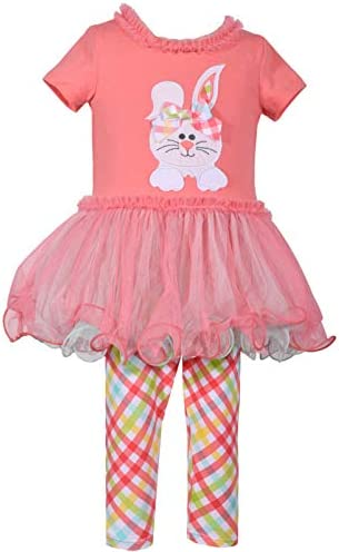 Girls Coral Easter Bunny Legging Set 6X product image