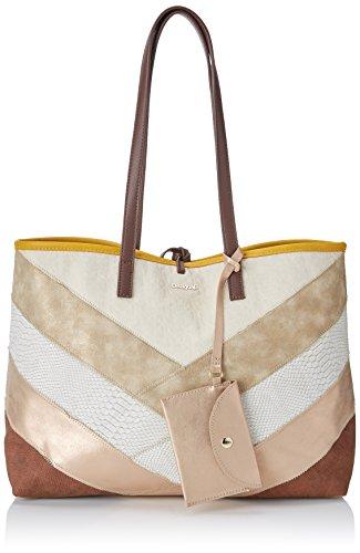 Desigual Bols_tantra, Shoppers y bolsos de hombro para Mujer, Marrón (Marron Tierra),...