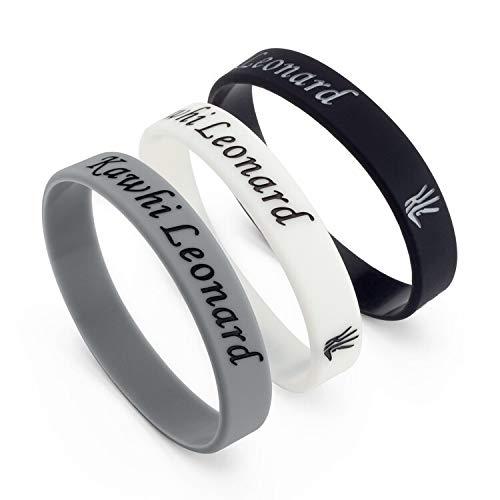 ZJZ NBA San Antonio Spurs Stelle No. 2 Leonard Leonard Anello Firma Mano Luminoso Wristband del Silicone di Pallacanestro (Color : Grey)