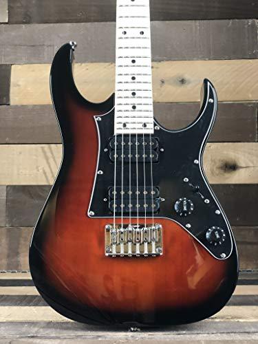 Ibanez GRGM21MWNS Mikro 3/4 Size Walnut Sunburst Mini Electric Guitar w/ Gig Bag