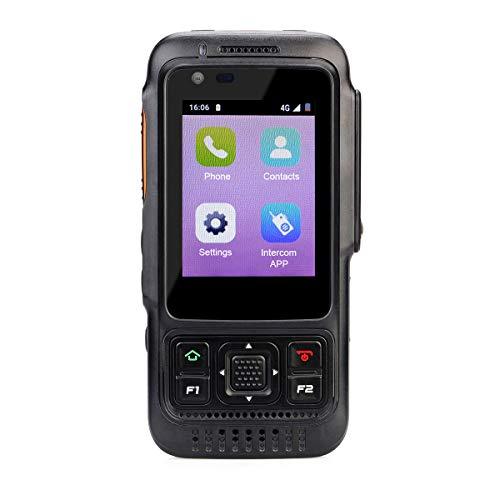 Retevis RT70 Red Walkie Talkie 4000mAh Batería Soporte 3G/4G /WiFi Señal GPS Función SOS 1GB+8GB InteligenteWalkie Talkie (Negro)