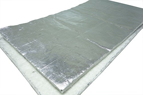 Schlauchland Hitzeschutzmatte 10mm Alu-Keramik 0,5m x 0,25m *** Turbo Auspuff Krümmer Isoliermatte Hitzeschutzfolie