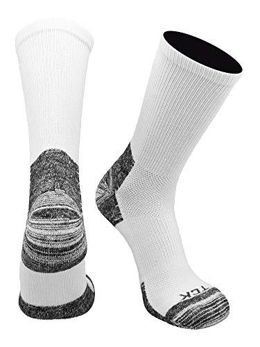 TCK Blister Resister Socken für Damen & Herren – Crewn-Länge, Unisex-Erwachsene Herren, weiß, X-Large