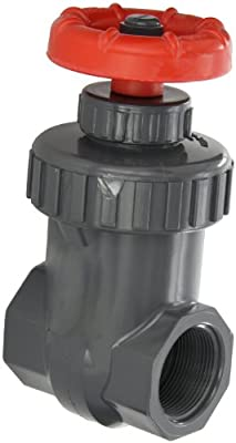 "Spears PVC Gate Valve, Non-Rising Stem, Buna-N O-Ring, 1"" NPT Female from Spears Manufacturing"