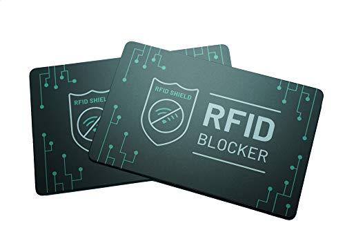 /& EC-Karten RFID Blocker Karte für Kredit 4x NFC RFID Karte RFID /& NFC Schutz