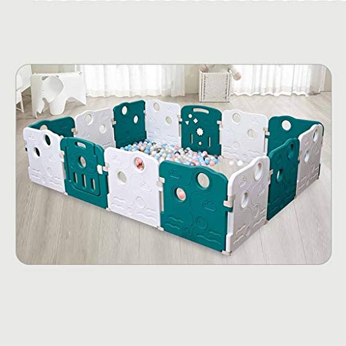 Read About Playard Plastic Baby Playpen, Children's Activity Center Safe Playground, Suitable for Fa...
