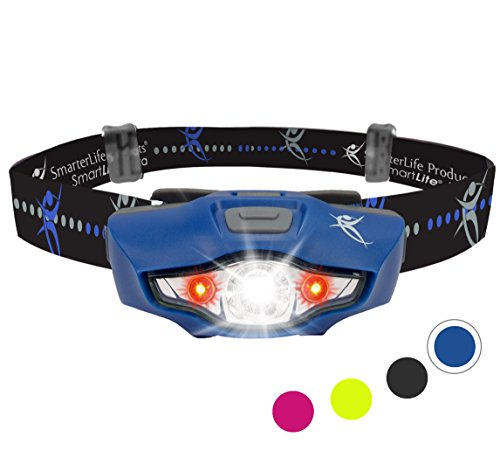 LED Headlamp Flashlight - 4 White and 2 Red LED Head Lamp Modes - Only 1...