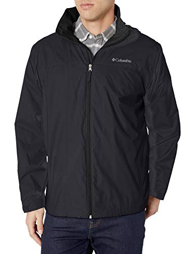 Columbia Men's Glennaker Lake Lined Rain Jacket, Waterproof & Breathable, L, black