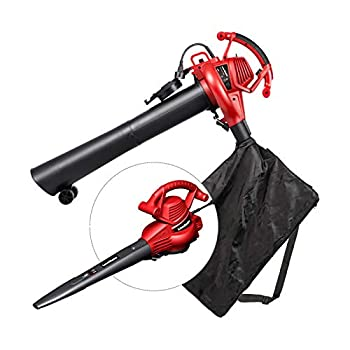LawnMaster Red Edition BV1210E 1201 Electric Blower Vacuum Mulcher 12 Amp Variable Speed with Metal Impeller 240 MPH 380 CFM 16 1 Mulch Ratio