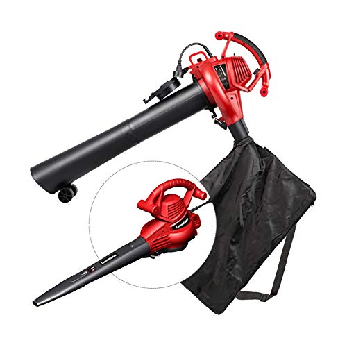 LawnMaster Red Edition BV1210E 1201 Electric Blower Vacuum Mulcher 12 Amp Variable Speed 240 MPH 380 CFM 16:1 Mulch Ratio