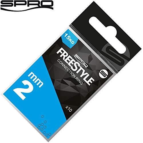 Spro Freestyle Reload Connection Ring - 10 Verbindungsringe zum Verbinden der Hauptschnur mit dem Vorfach, Connectionring