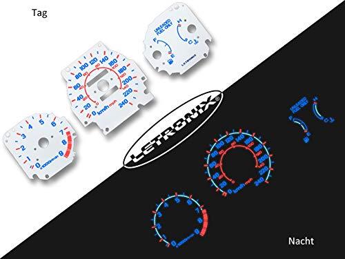 LETRONIX Plasma Tacho Tachoscheiben für Auto Civic 96-00 0-240Km/h 9000U/Min