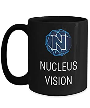 Official Nucleus Vision Cryptocurrency Big Mug Acrylic Coffee Holder Black 15oz Crypto Miner Blockchain Invest Trade Buy Sell Hold NCASH