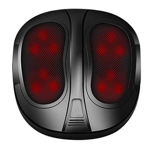 ZHJIUXING SF Shiatsu Fussmassagegerät mit Wärmefunktion, Massagegeräte für für alle Fußgrößen, Fußwärmer, Auto Fußmassagegerät für Zuhause und Büro Entspannung, Black