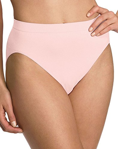 Barelythere Women's Solid  Microfiber Hi-Cut Panty, Rosewood, 8/9
