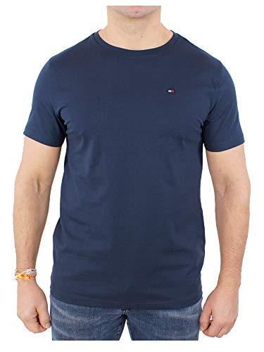 Tommy Hilfiger Cotton cn tee SS Icon Camiseta, Navy Blazer-PT 416, M para Hombre