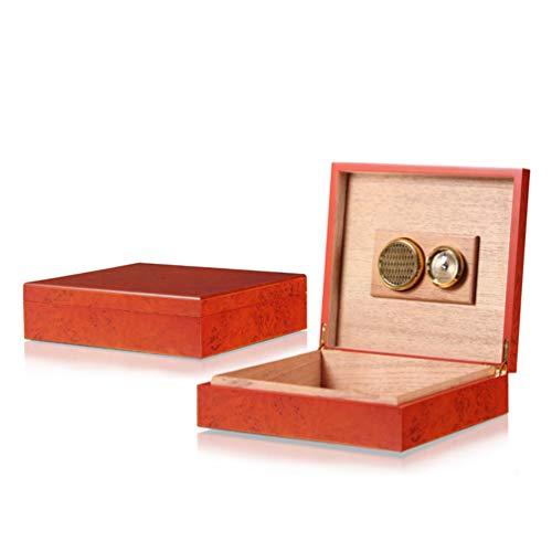XGYUII Cigar Humidor Case Cèdre en Bois avec Thermomètre Et Humidificateur Boîte De Rangement De Cigare pour 10-20 Cigares À La Main