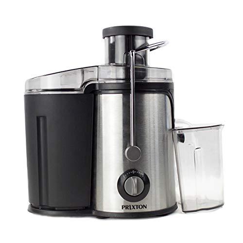 PRIXTON - Licuadoras para Verduras y Frutas/Licuadora Extractor de Zumos Prensado en Frio, 600W, Cuchillas Potentes, con 2 Velocidades Diferentes, Diseñado Acero Inoxidable y Plastico de Calidad