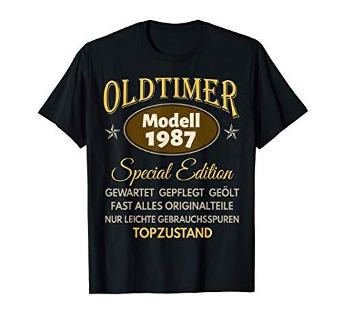 34. Geburtstag Mann Frau Oldtimer Jahrgang 1987 Geschenk T-Shirt
