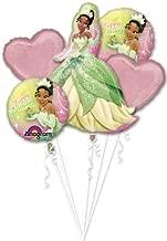 Princess Tiana Balloon Bouquet - Princess and The Frog Balloons - 5 Count