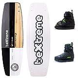 Bextreme Planche Wakeboard Punk 146 cm + bottes Wakeboard Jobe. Pour cableski, wakepark, bateau et kiteboard avec trous pour quilles. ECO paulownia freestyle wake. Jobe Host 39-43 EU