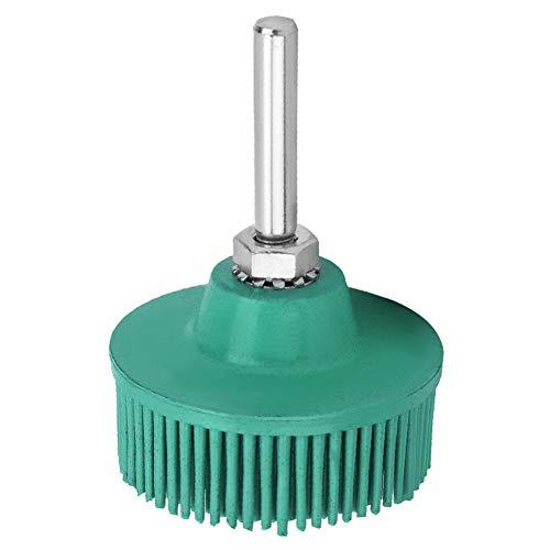 2 Inch Brush Bristle Disc Brush, Rubber Abrasive Brush Polishing Grinding Wheel for Burr Rust Removal(Green)