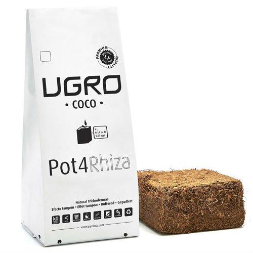 Sustrato / Bloque / Ladrillo Fibra de coco deshidratado U-Gro Pot4 Rhiza (500g-4L)