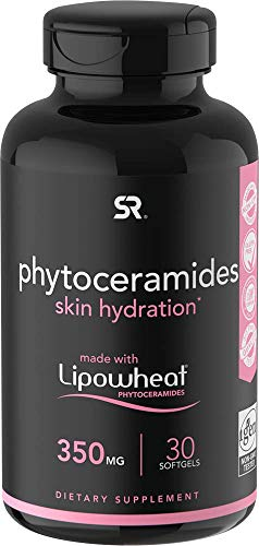 Phytoceramides 350mg Made with Clinically Proven Lipowheat® | Plant Derived and GMO Free with No Fillers or Synthetic Vitamins - 30 Liquid softgels