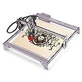 Grabador láser A5 PRO de 40 W, máquina de grabado láser, protección ocular, tallado y corte rápidos, estructura de aleación de aluminio, 410x400 mm para madera, bricolaje, escritorio, cuero metálico