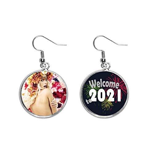 Flores desnudas decoradas entusiasta dama oreja colgantes pendientes joyería 2021 bendición