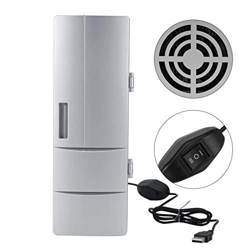 cersalt Refrigerador portátil, Enfriador de Bebidas Calentador IBM Pc/Mac Compatible Cooler Warmer Refrigerador Mini refrigerador USB, 8.5 X 12 X 25cm Leches para automóvil