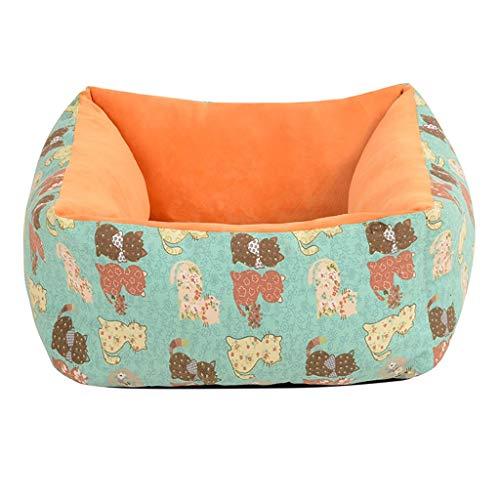 BTIR Hundebetten, Wasserbeständig thermische Decke, Absorbent Chenille Badetuch Teppich for Hunde & Katzen (Color : Green, Size : S)