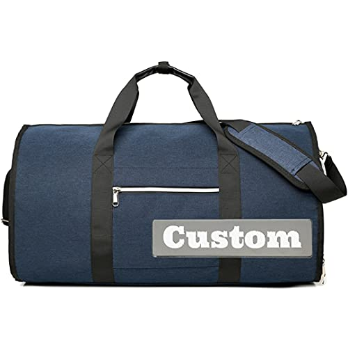 FireH Nome personalizzato Tote Bag Large Duffel Gym Zaino Scarpa Scomparto Tote Pocket (Color : Blue, Size : One size)